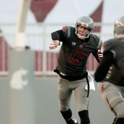 Connor Halliday had clean pockets such as this all day