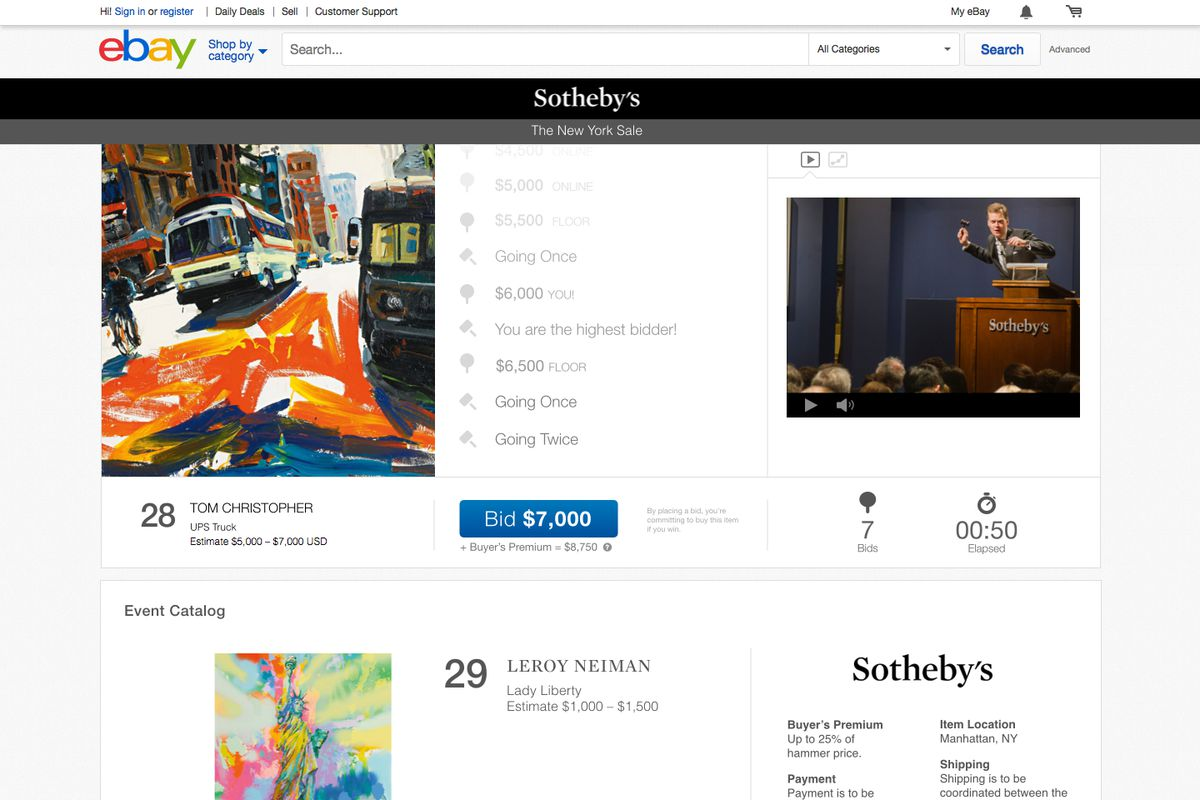 Ebay Launches High End Auctions With Sotheby S The Verge