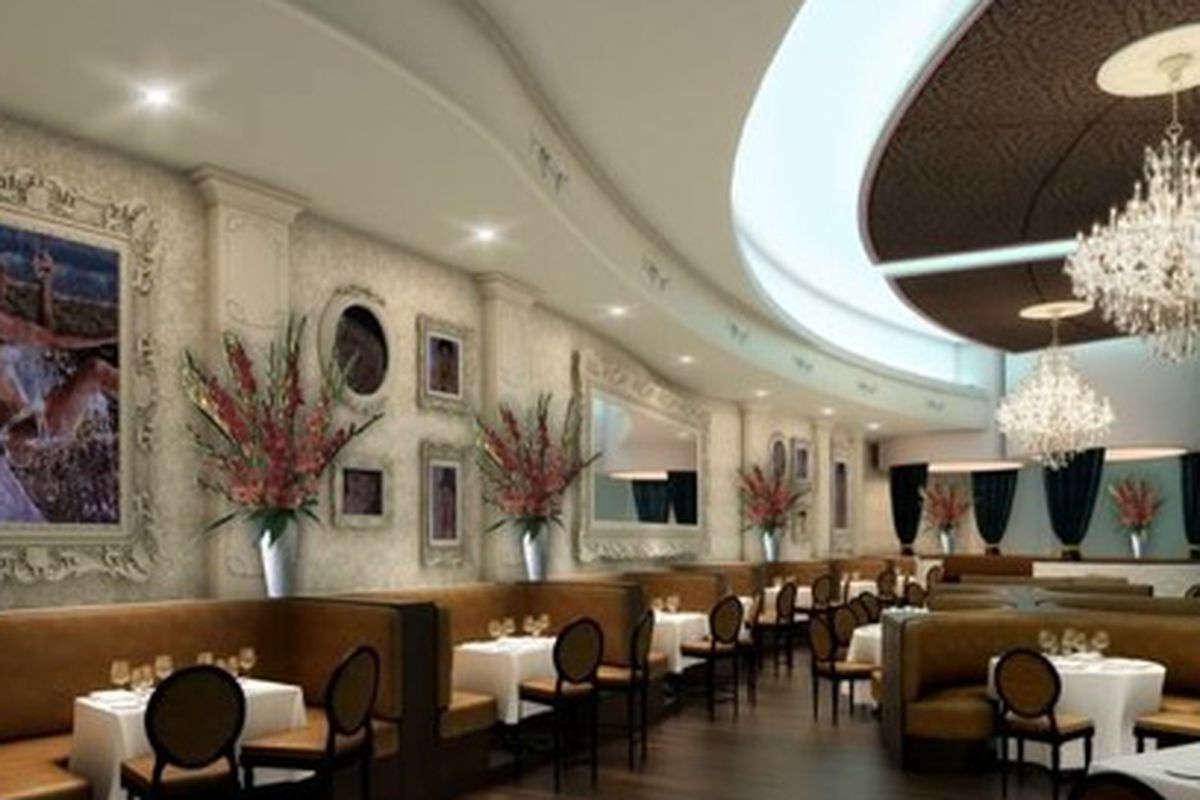 A rendering of Bagatelle's supper club