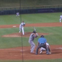 Nolan Blackwood pitches in the ninth inning