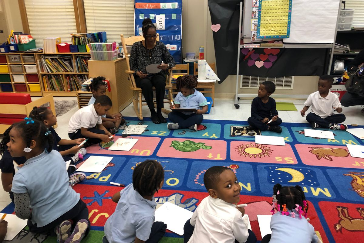 A preschool classroom at John T. Pirie Fine Arts and Academic Center in Chicago's Chatham neighborhood. Chatham is one of 28 neighborhoods where Chicago will expand universal pre-kindergarten next school year.
