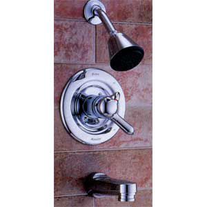 <p>PICK BATH and shower faucets by what's inside as well as outside. The Delta Monitor 1700 (about $172) features a pressure-balance valve that protects against shower shock by keeping water-temperature fluctuations within 3°F. It's available in chrome and polished brass.</p>