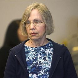 A somber Wanda Barzee enters Judge Judith Atherton's district court in Salt Lake City for sentencing.