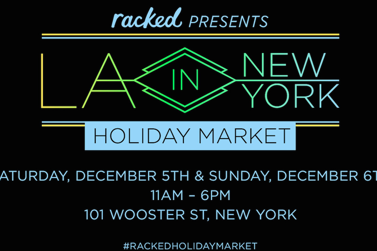 Racked's first-ever holiday market.