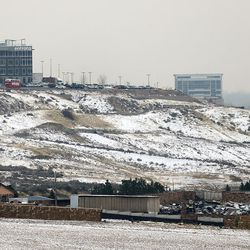 The new Entrata building looks out over the valley in Utah County as commercial construction takes off in Sandy and Lehi on Wednesday, Dec. 21, 2016.