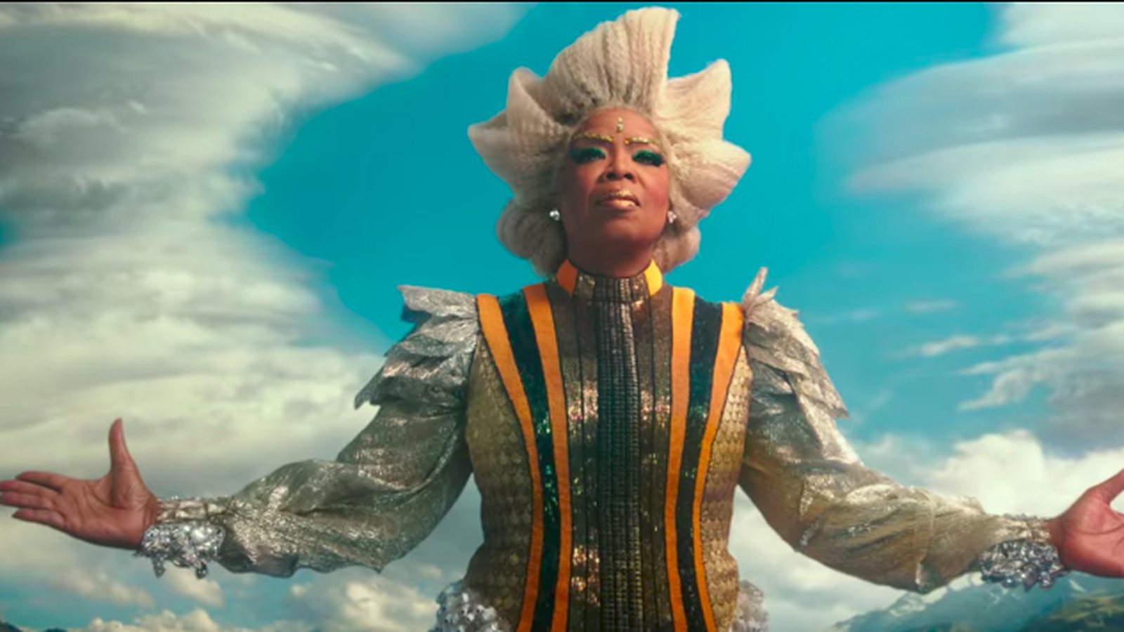 The best part of A Wrinkle in Time's first trailer is Oprah's brilliant, celestial costumes