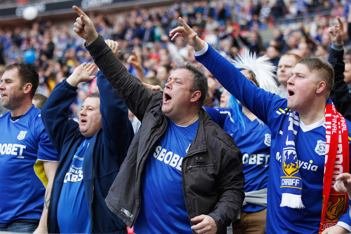 Cardiff fans have had the opportunity to experience the Wembley atmosphere this year. (Photo by Paul Gilham/Getty Images)