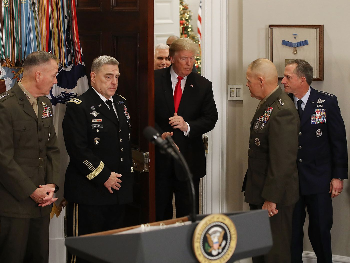 Trump State of the Union Address 2018: Trump the military