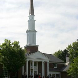 Outside photo of rededicated Cambridge meetinghouse.