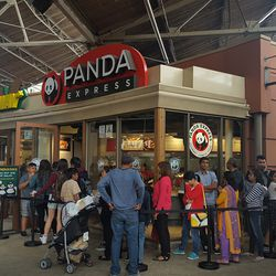 Panda Express wins the People's Choice Award for longest line. Coach came in second, followed by Kate Spade and Michael Kors.