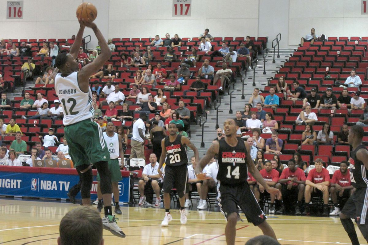 JaJuan Johnson rises up for the jumper against the Bulls Summer League team in Las Vegas. (credit: Alexander Young)