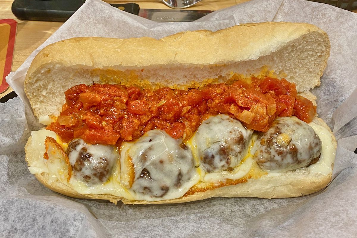 meatball sub at bare bones butcher in the nations nashville