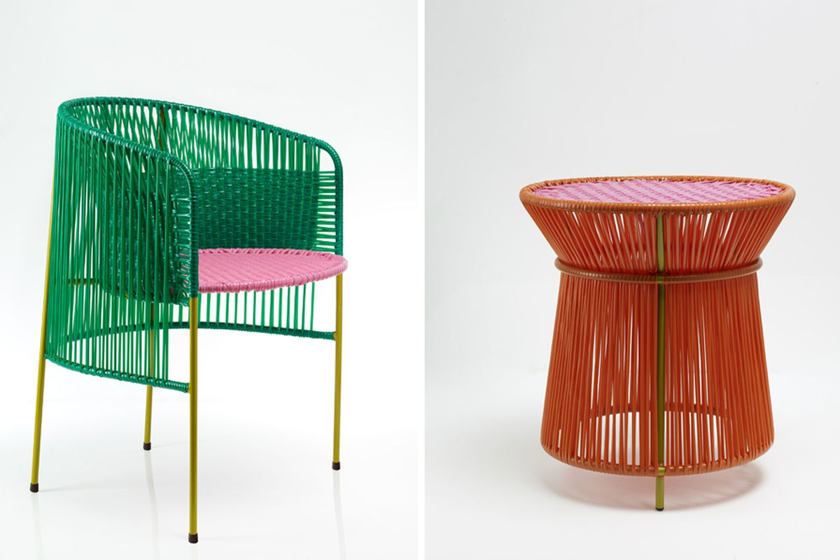 handwoven chairs