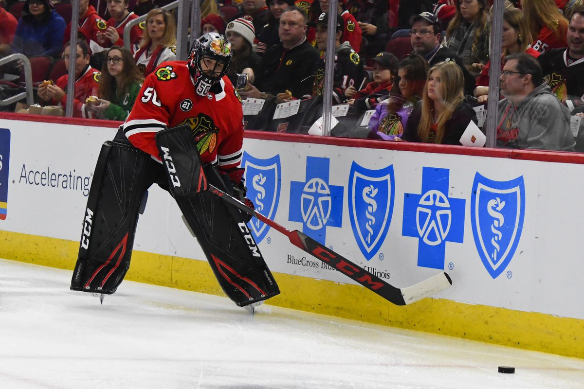 Corey Crawford is reportedly on the Blackhawks' playoffs roster.