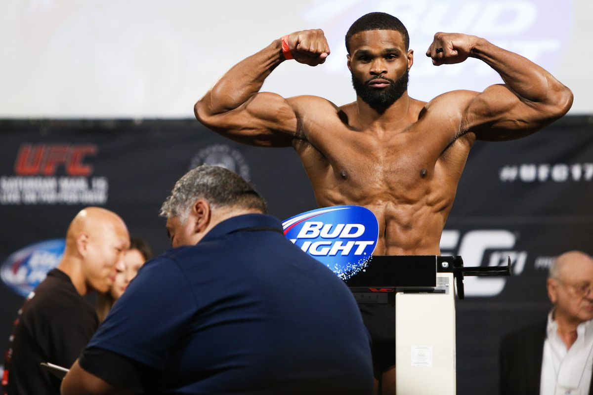 Tyron Woodley at UFC 171 weigh-ins