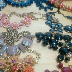 Statement necklaces, $60