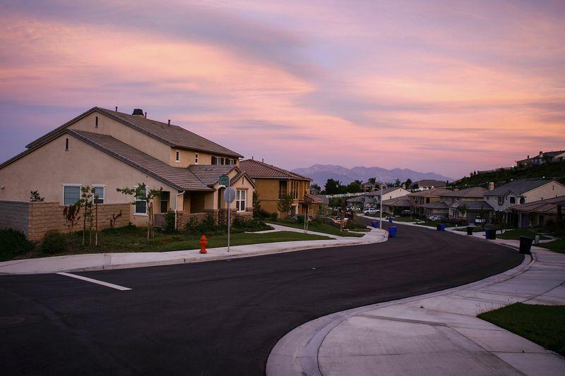 Suburban homes in the community of Highland, east of San Bernardino, California.