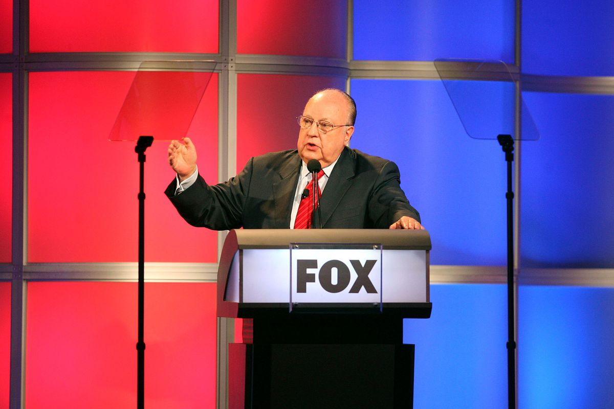 Roger Ailes speaks onstage during the 2006 Summer Television Critics Association Press Tour