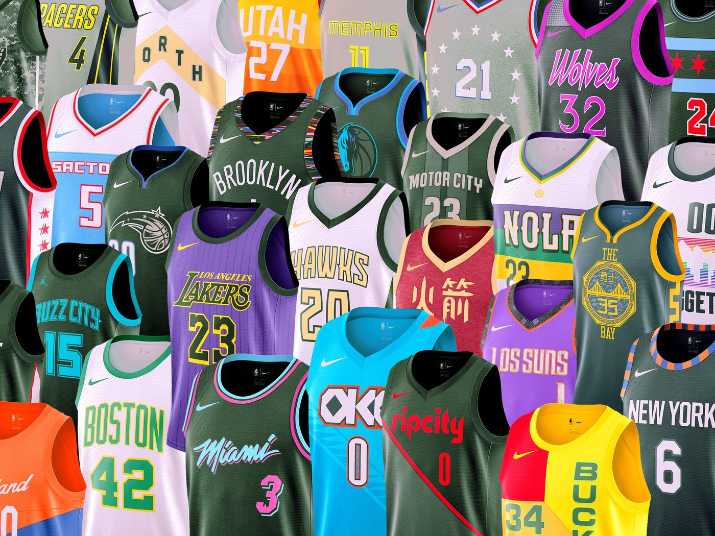 "a54acb5c965 The Best and Worst of the NBA s New ""City Edition"" Jerseys - The Ringer"