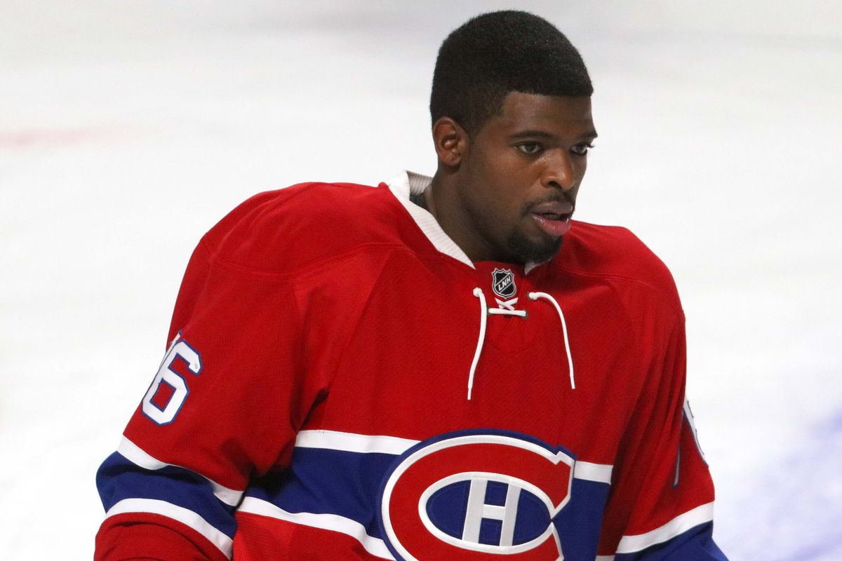 Here's P.K. Subban at what I can only assume is an ugly sweater Christmas party