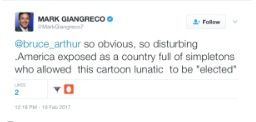 Mark Giangreco's tweet. Courtesy of Chicago City Wire.