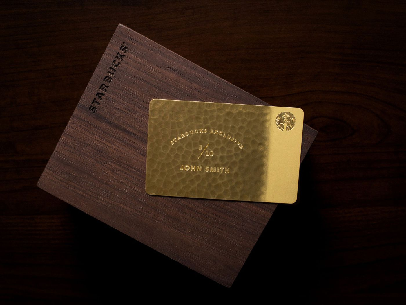 Starbucks exclusive 5000 giftcard is made from 10 karat gold eater colourmoves