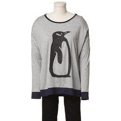 Tibi Fiona Penguin Long-sleeve Top, $75
