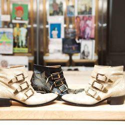 "<a href=""http://www.thecoveteur.com/kelly_wearstler""target=""_blank"">Kelly Wearstler</a>'s essential Chloe ankle boots."