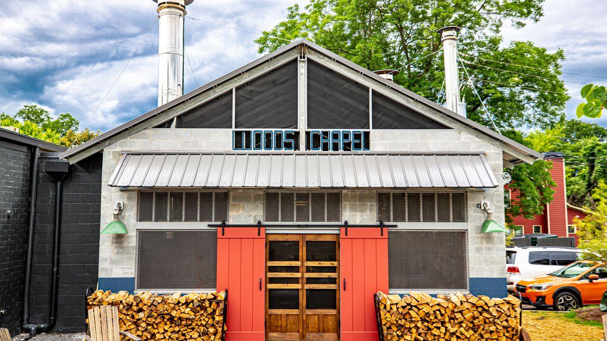 The smokehouse at Wood's Chapel