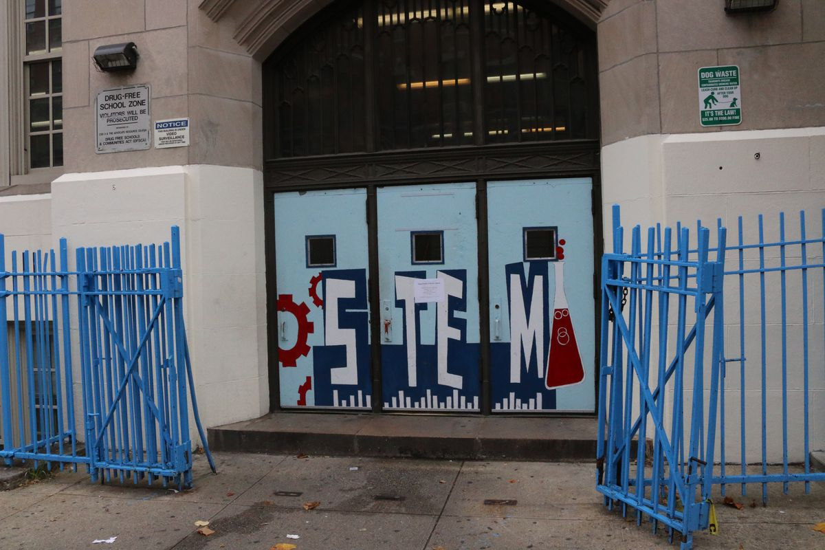 The District 3 Community Education Council includes P.S. 241 the STEM Institute of Manhattan, pictured above, in its rezoning proposal. The school is slated for merger with P.S. 76. (Photo by Alex Zimmerman)