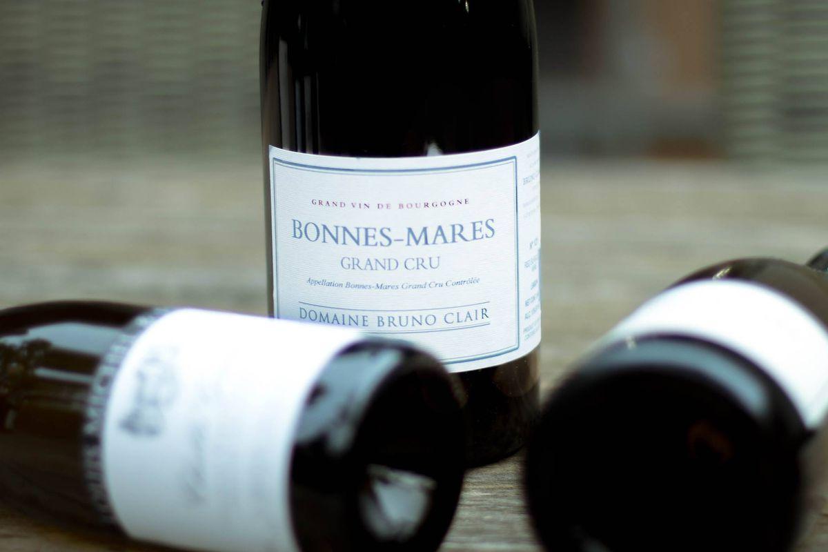 A bottle of Bonnes-Mares grand cru wine