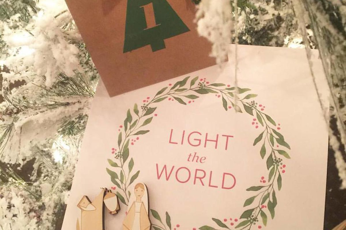 """The month-long """"Light the World"""" campaign encourages members and families to share the light of Christ through small but meaningful acts of service on each of the 25 days before Christmas."""
