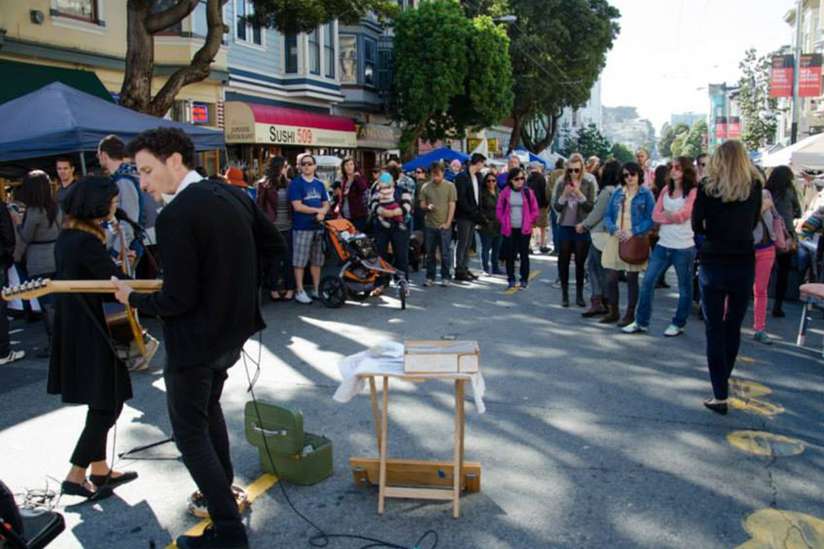 The Urban Air Market in the Haight in October