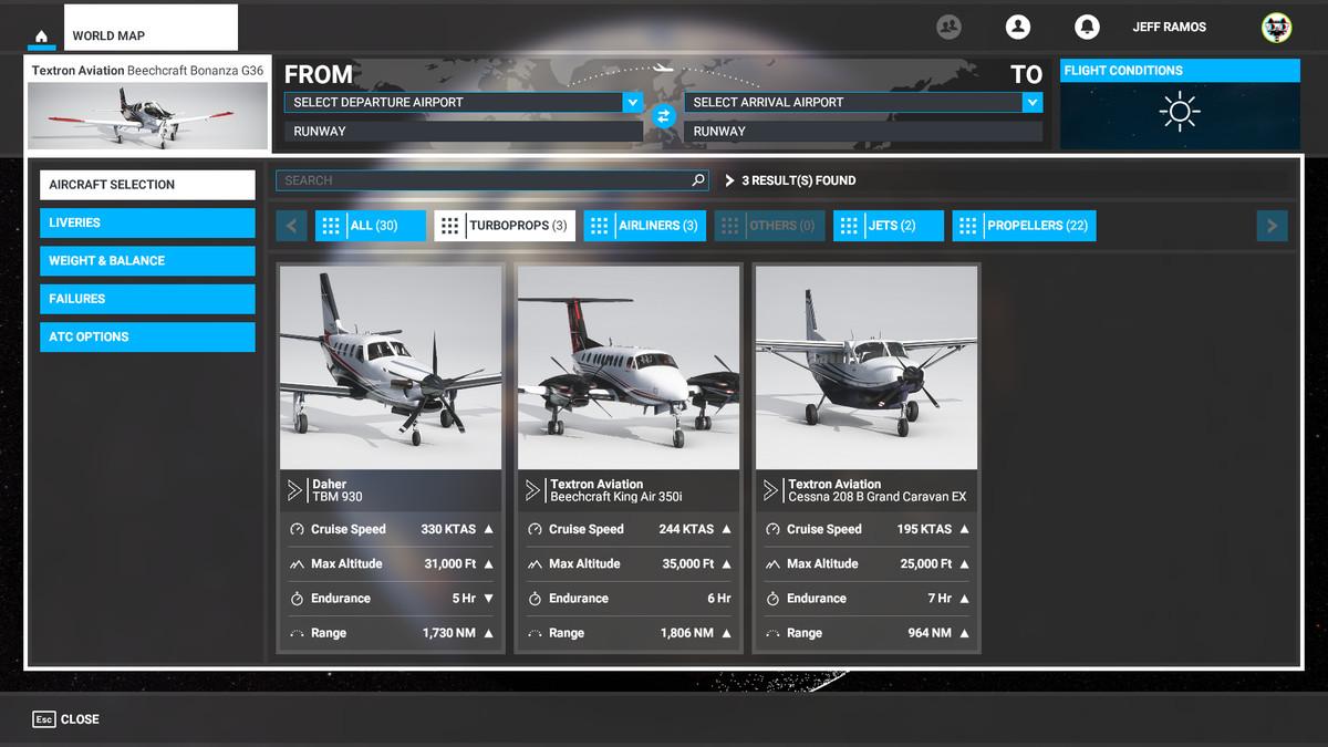 Turboprops in Microsoft Flight Simulator