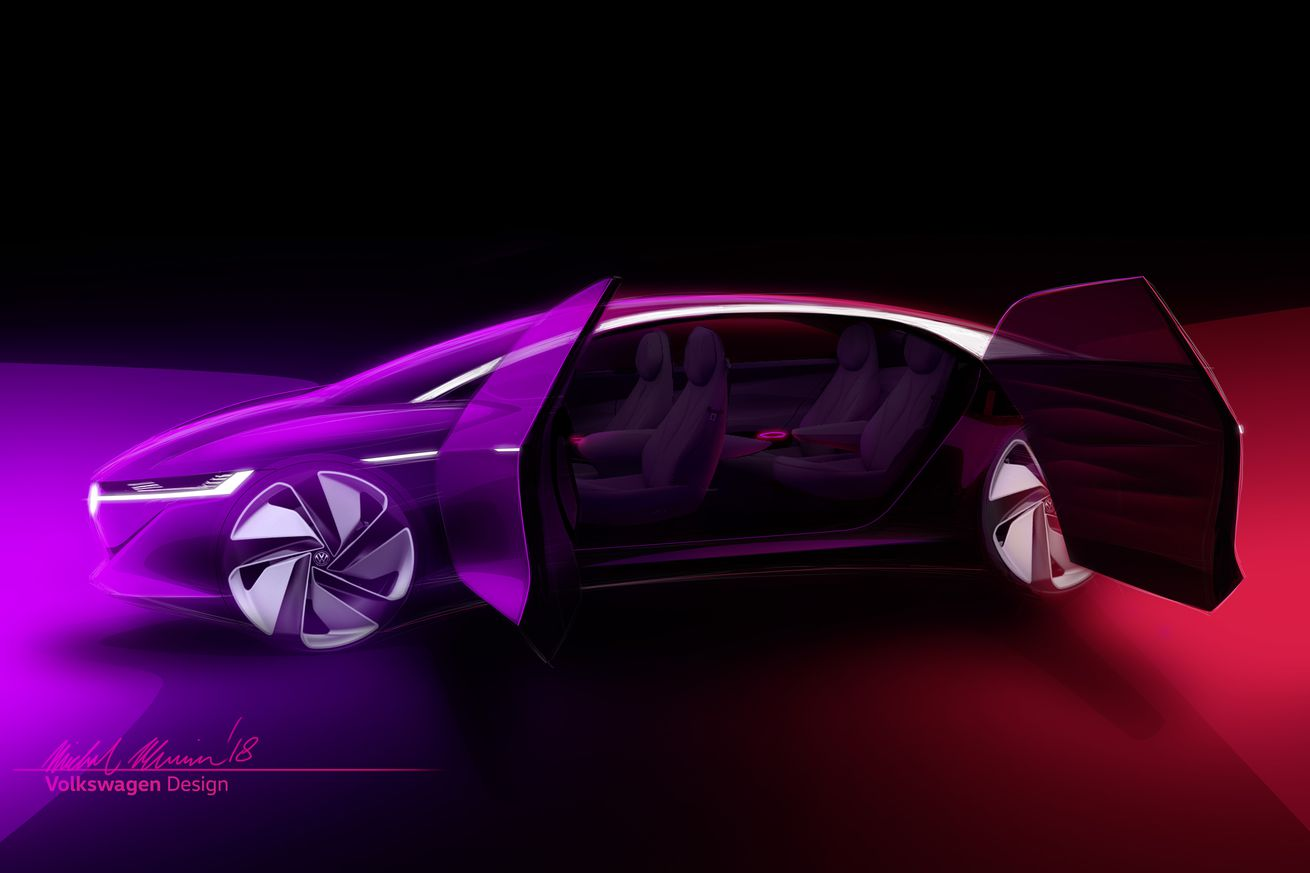 vw s new concept is a fully self driving car with no steering wheel