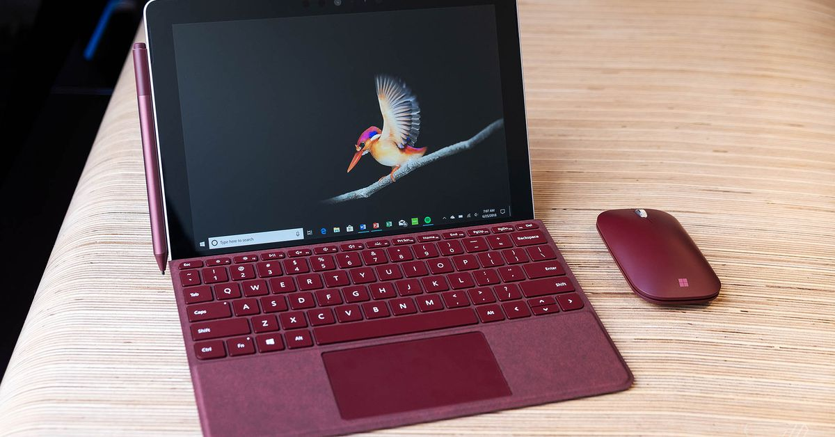 Microsoft Surface go tablet has a 10 inch screen and starts at $399