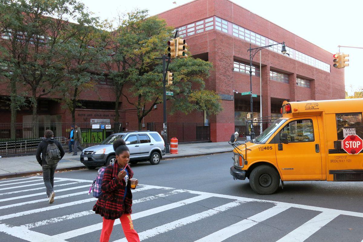 """Boys and Girls High School in Brooklyn saw its enrollment shrink 47 percent since the """"Renewal"""" program began in 2014."""