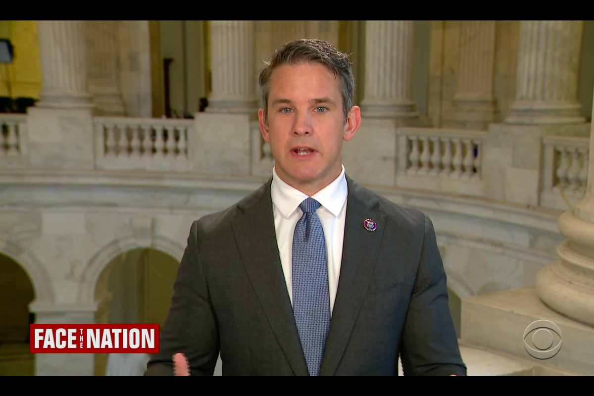 """Rep. Adam Kinzinger, R-Ill., on Sunday talks about his """"Country First"""" drive on CBS' """"Face the Nation."""""""