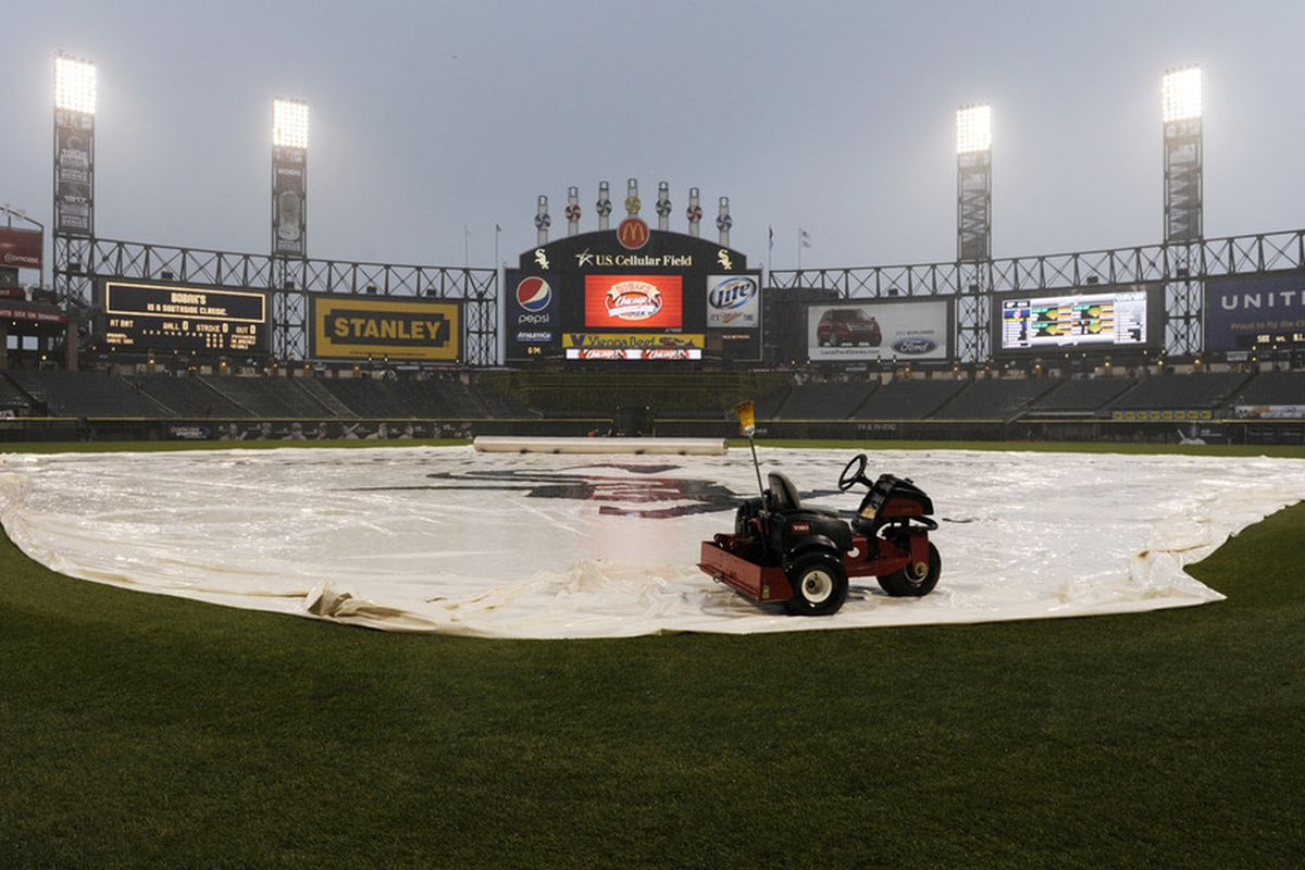 The rain has passed, so today's game will be played.