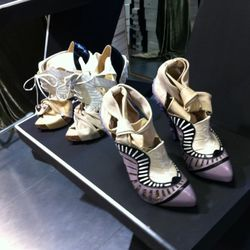Nicholas Kirkwood for Rodarte melted wax heel shoes. These will cost you.