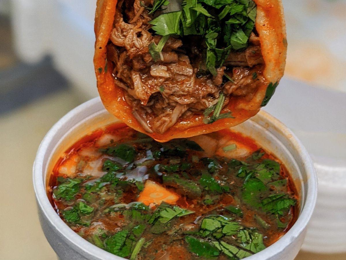 The birria taco from La Tunita 512