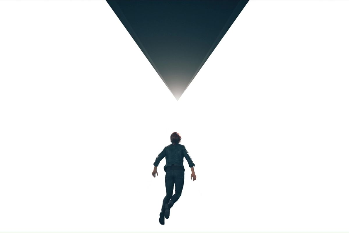 The new Director floats below an inverted pyramid in an empty white space.