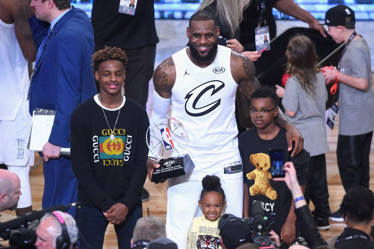bfad8662470 Kentucky Wildcats and Duke Blue Devils have best odds to land LeBron James  Jr.