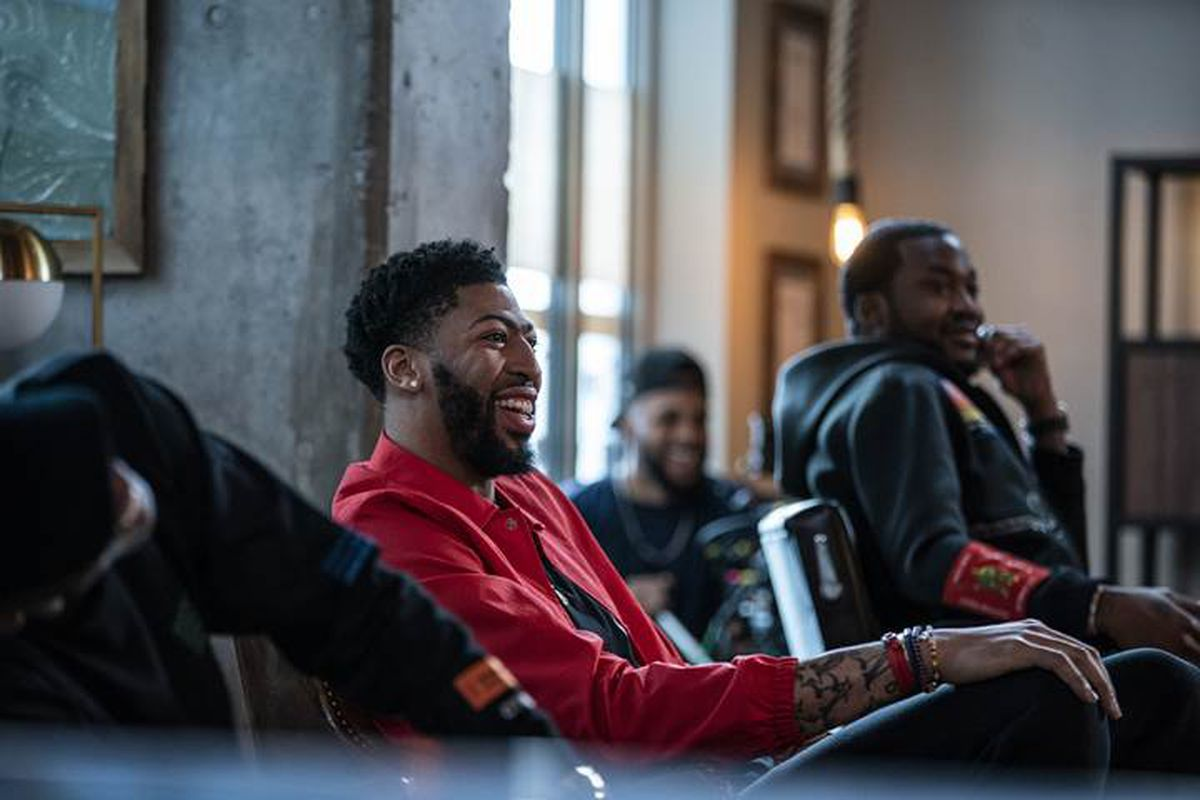 0693601b5568 Anthony Davis and LeBron James filmed an episode of  The Shop  during  All-Star Weekend