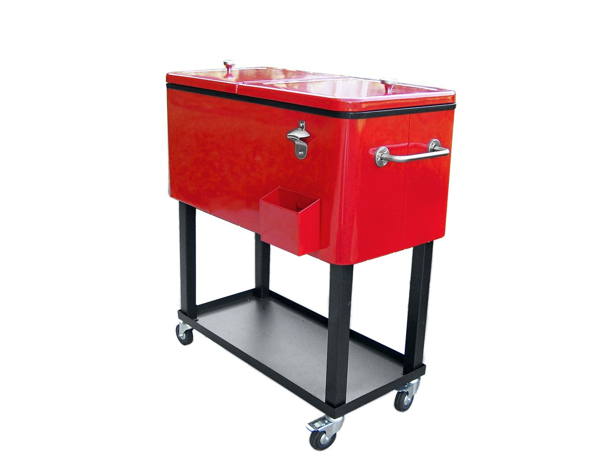 "<p>Supplement a fridge or forgo one entirely with this powder-coated 80-quart cooler that wheels up to the grill, then locks in place.</p> <p><em>About $210; <a href=""https://www.amazon.com/gp/product/B076GLGMLP/ref=as_li_tl?ie=UTF8&amp;tag=hisldousent-20&amp;camp=1789&amp;creative=9325&amp;linkCode=as2&amp;creativeASIN=B076GLGMLP&amp;linkId=ce73e941cf74d31b9a06fb39af086329"" target=""_blank"">Amazon</a></em></p> <p> </p> <p><em><span style=""font-size:11.0pt"">This originally appeared in <a href=""ht"