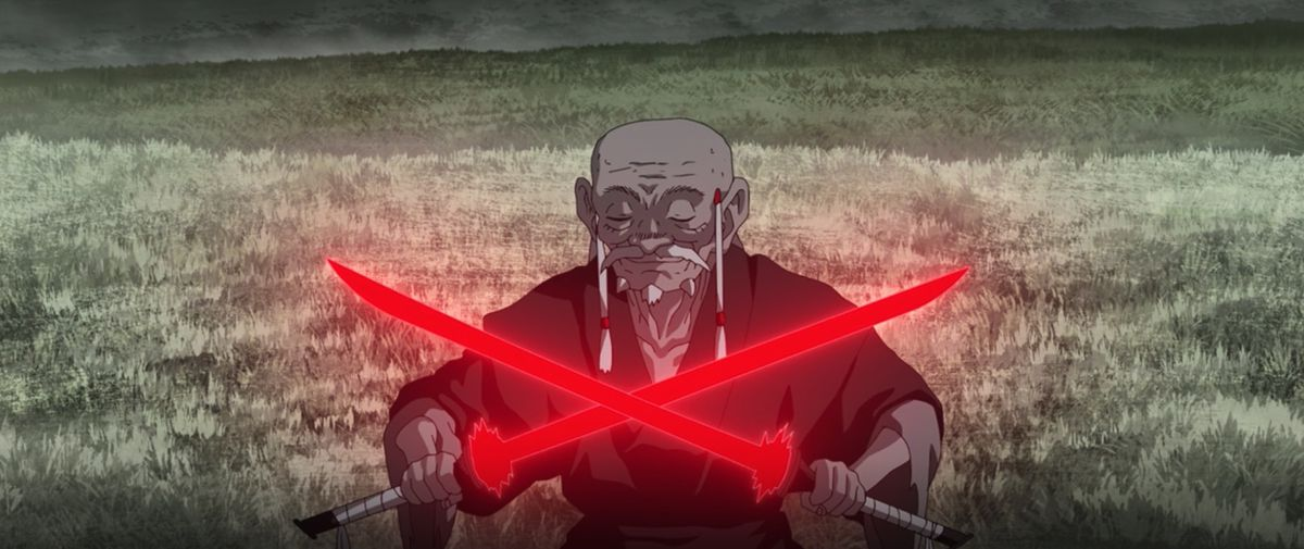The Elder and his two short lightsabers in Star Wars: Visions