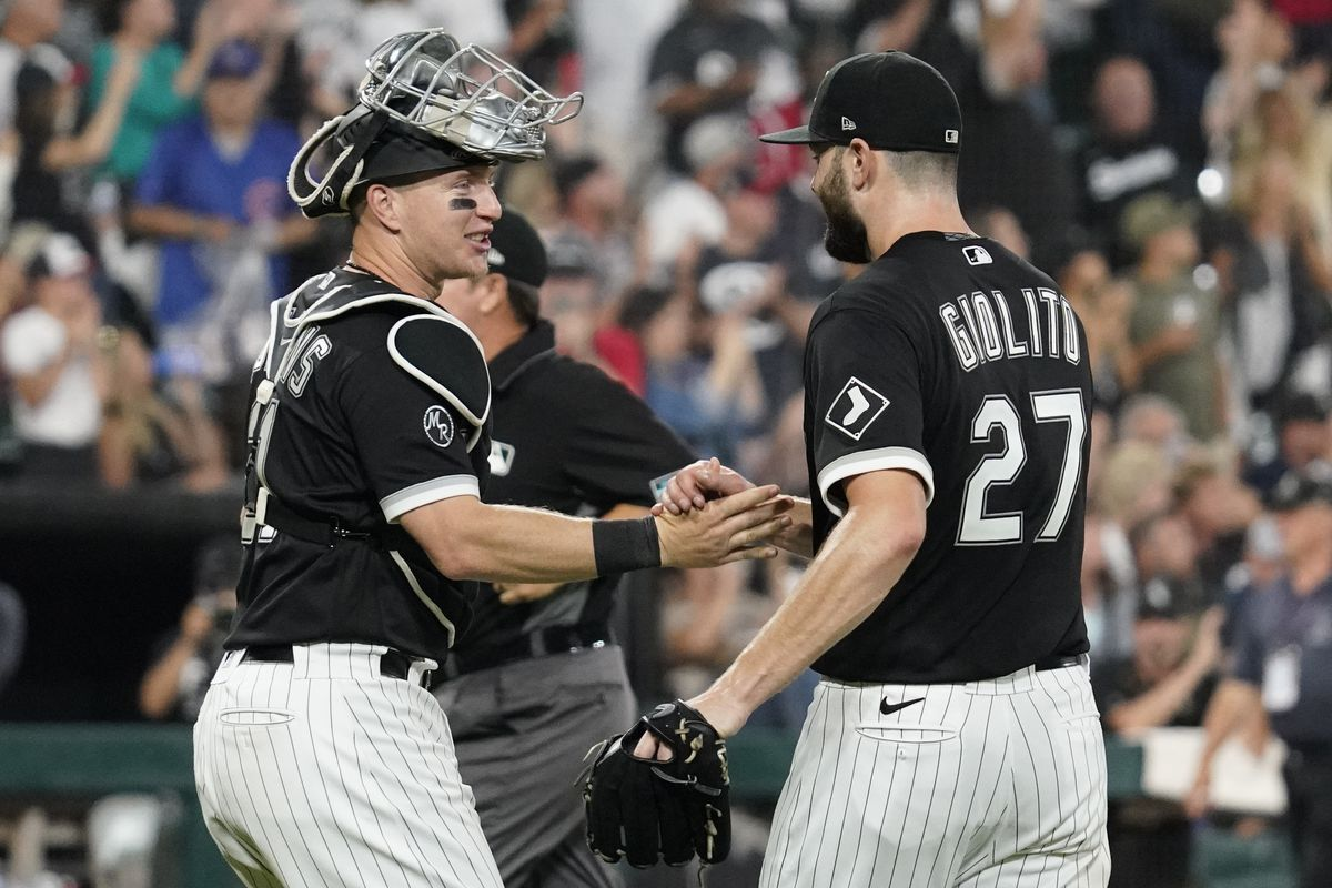 White Sox pitcher Lucas Giolito said he is comfortable throwing to catcher Zack Collins.