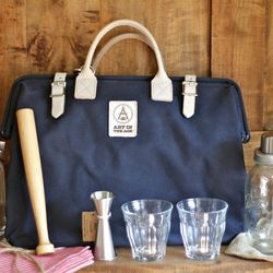Designed to accommodate everything needed for shaking up drinks on-the-go, this customized cocktail kit ($279) is from the Brooklyn-based W&P Design (makers of the Mason Shaker).