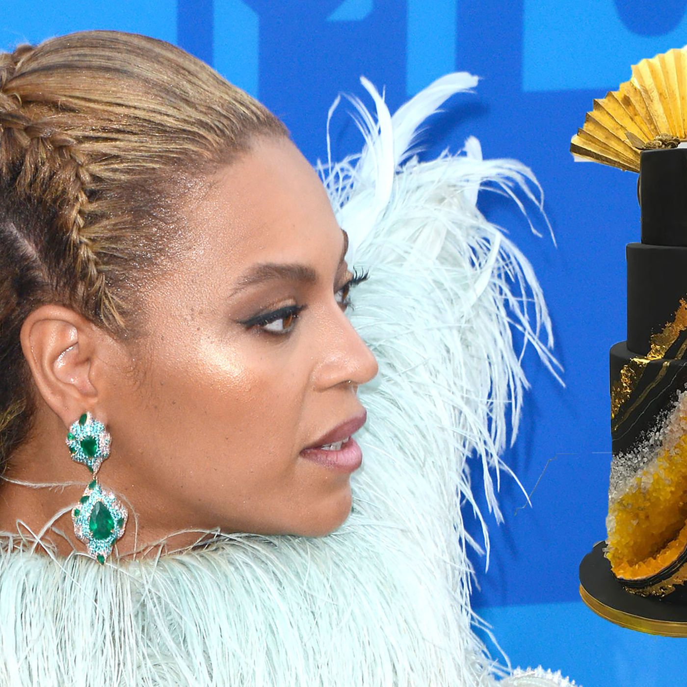 Fantastic Beyonce Celebrated Her 36Th Birthday With A 3 500 Geode Cake Eater Personalised Birthday Cards Veneteletsinfo