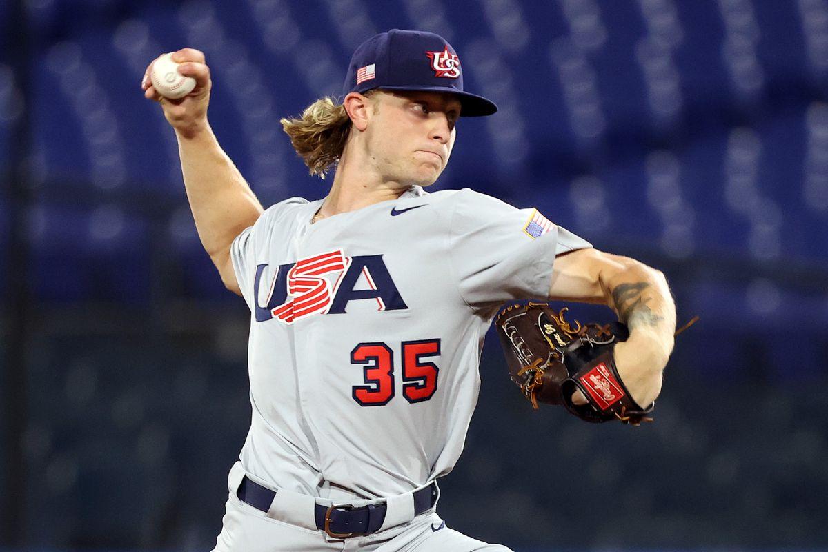 United States v Japan - Baseball - Olympics: Day 10